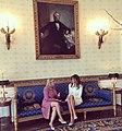 Melania Trump and Sara Netanyahu at the Blue Room - 2017.jpg