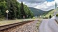 """Mellenbach Glasbach Gleis Bestandteil der Sachgesamtheit """"Eisenbahnstrecke Oberweißbacher Berg- und Schwarzatalbahn"""" 6.jpg"""