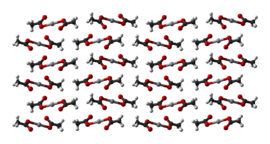 Ball-and-stick model of part of the crystal structure of mercury(II) acetate