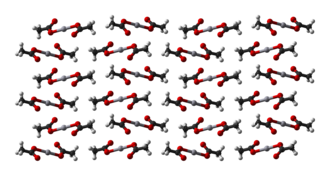 Mercury(II) acetate - Ball-and-stick model of part of the crystal structure of mercury(II) acetate