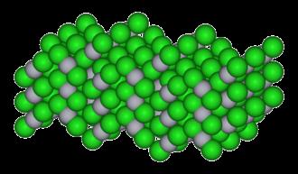 Mercury(II) chloride - Image: Mercury(II) chloride xtal 3D SF