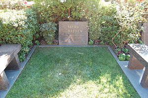 Merv Griffin - Griffin's grave, located at Westwood Village Memorial Park Cemetery in Westwood, Los Angeles, California
