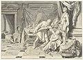 Met getrokken zwaard doet Odysseus alsof hij Kirke Circe wil doden, nadat zij tevergeefs had gepoogd hem te betoveren, Inventarisnummer NL-HlmNHA 53013336.JPG