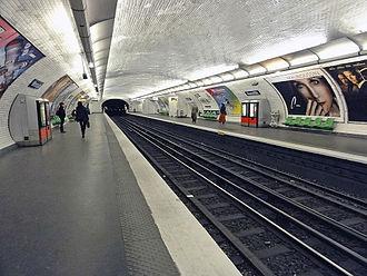 Monceau (Paris Métro) - Image: Metro de Paris Ligne 2 Monceau 01
