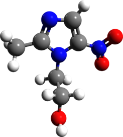 Metronidazole 3d structure.png