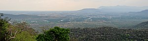 Mettupalayam, Coimbatore - Metupalayam town seen from Ooty hills