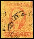 Mexico 1867 quatro reales Sc38 used.jpg