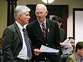 Michael Grant confers with William Proctor.jpg