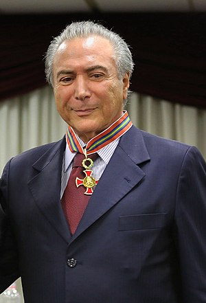 "Michel Temer - Temer receives the ""judicial merit medal"""