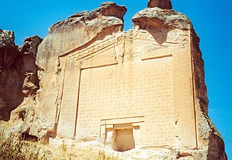 Rock-cut architecture - The Midas Monument, a Phrygian rock-cut tomb dedicated to Midas (700 BCE).