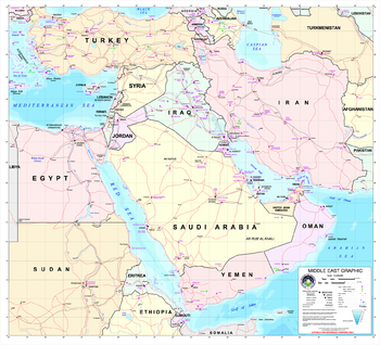 Subject: Middle East map Source: NIMA http://w...