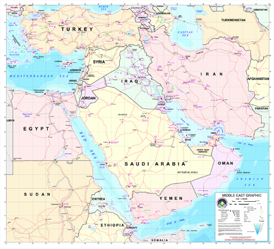 A Map Of The Middle East 2003