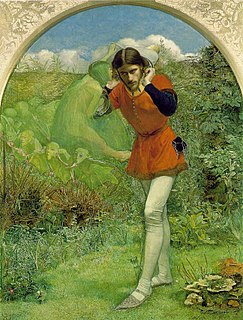 <i>Ferdinand Lured by Ariel</i> painting by John Everett Millais