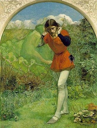 Ariel (The Tempest) - Ferdinand Lured by Ariel, by John Everett Millais, 1852