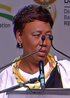 Angie Motshekga South African politician