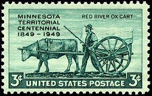 Minnesota Territory - Minnesota Territory Centennial, issue of 1949