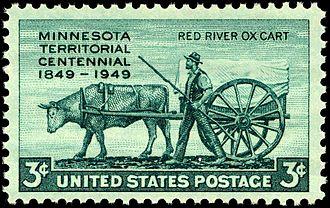Minnesota Territory - Minnesota Territory Centennial, U.S. postage issue of 1949