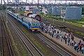 Minsk Uschodni station p04 (ER9T arriving).jpg