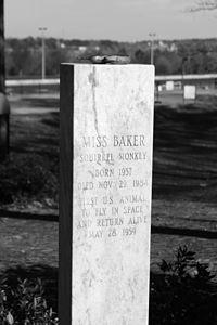 Miss Baker's Gravestone bw.JPG
