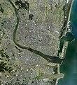 Miyazaki city center area Aerial photograph.2010.jpg