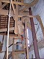 Molen Oostendorper Watermolen, Haaksbergen oliemolen wentelas kranswiel overwerker aandrijving roerijzer vuister.jpg