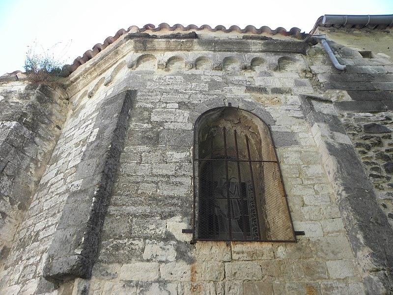 Église Saint-Étienne de Montferrier-sur-Lez (34). Chevet.