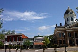 Monticello, Georgia - Town square