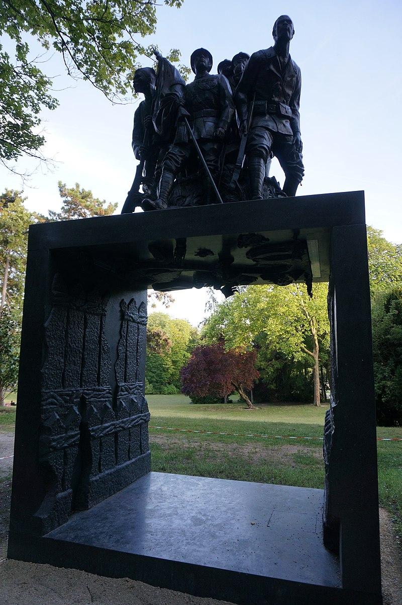 Le monument aux Héros de l'Armée Noire(2018) à Reims