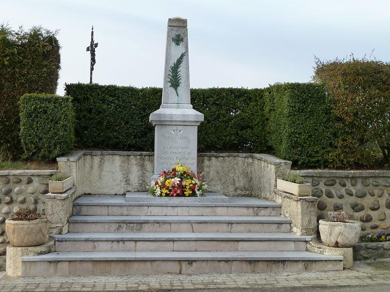 File:Monument aux morts de Fichous-Riumayou.JPG