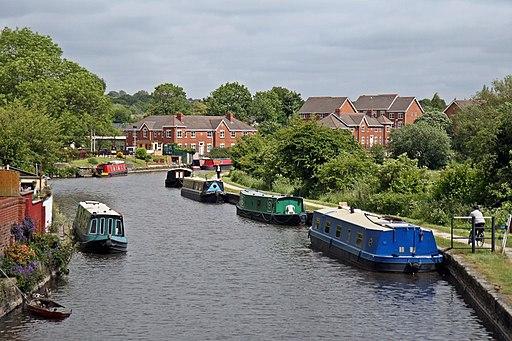 Moorings, Leeds and Liverpool Canal, Appley Bridge (geograph 4531278)