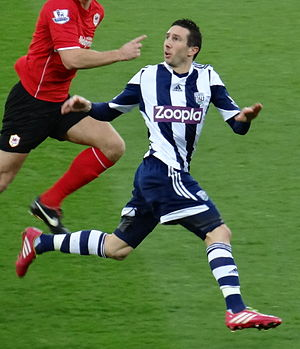 Morgan Amalfitano - Amalfitano playing for West Brom against Cardiff City in December 2013.