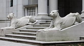 Morgan Library & Museum - Edward Clark Potter's lions