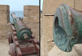 Moroccan cannon hit by French fire in the Mogador bombardment 1844.jpg