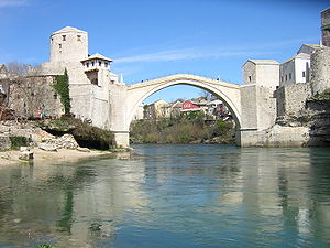 Bridge castle - The bridge castle of Stari Most in Mostar