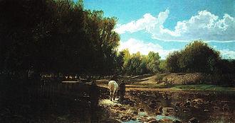 Bormida (river) - Motivo sulla Bormida, Alfredo d'Andrade, 1865