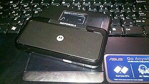 Motorola Backflip - Image: Motorola Backflip underside