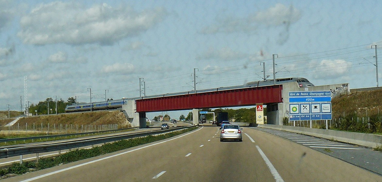 Motorway A4 and TGV