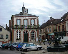 The town hall in Moulins-la-Marche