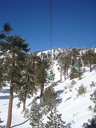 Mount Baldy Ski Lifts - Image: Mount Baldy Ski Area California