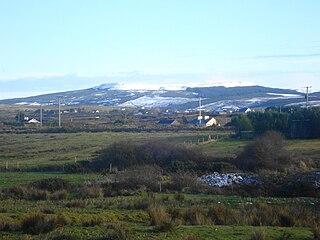 Slievecallan mountain in Ireland