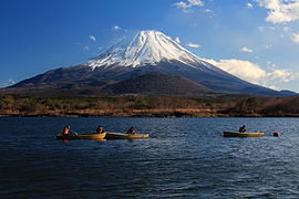 Mount Fuji from Lake Shōji.JPG