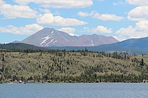 Mount Guyot (Colorado) viewed from Dillon Reservoir July 2016.jpg