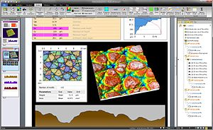 MountainsMap - MountainsMap 7.0 Graphical user interface (microtopography of an artificial leather texture from a car dashboard)