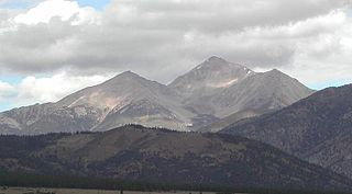 Mount Yale Fourteener and twenty-first highest mountain in the US state of Colorado (14,200).