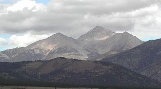 Mount Yale - Mount Yale is the highest peak seen in this picture