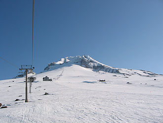 Timberline Lodge ski area - Image: Mt Hood Timberline Magic Mile Palmer