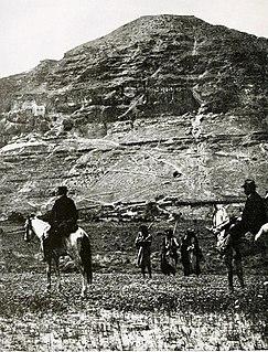 Mount of Temptation Hill in the Judean Desert