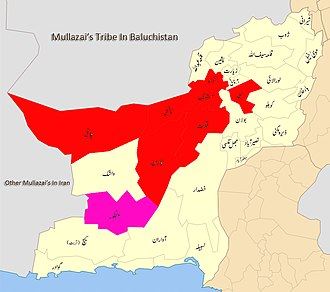 Mullazai tribe - Presence of the Mullazai tribe in Baluchistan
