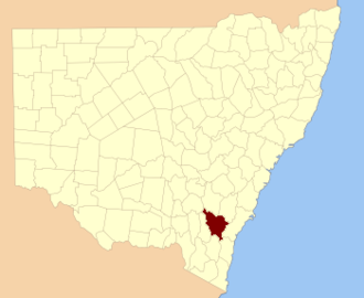 Murray County, New South Wales - Location in New South Wales
