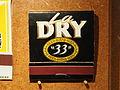 Musée Européen de la Bière - Matchbook - La Dry 33 biere.JPG